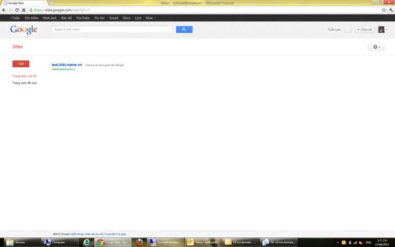 Add tên miền vào google site