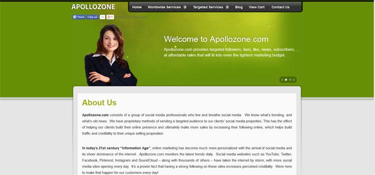 Apollozone.com    Facebook,Twitter, Pinterest, Google Services - 2