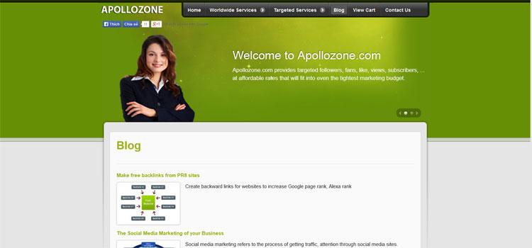 Apollozone.com    Facebook,Twitter, Pinterest, Google Services - 4