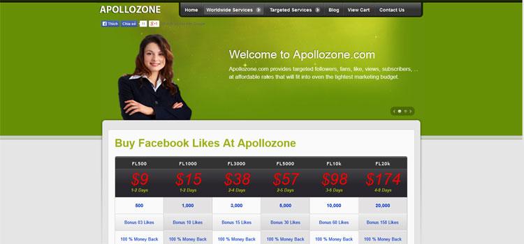 Apollozone.com    Facebook,Twitter, Pinterest, Google Services - 3