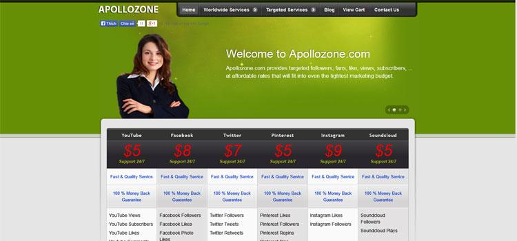Apollozone.com    Facebook,Twitter, Pinterest, Google Services - 1