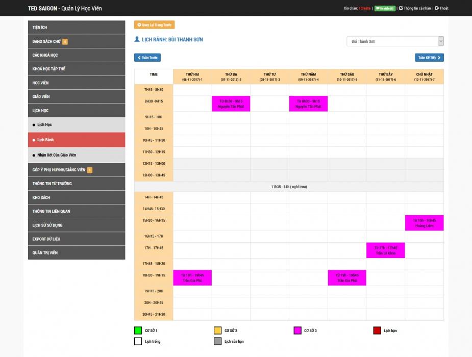 TED SAIGON - Hệ thống quản lý học viên - 5