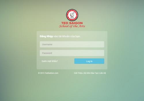 TED SAIGON - Hệ thống quản lý học viên
