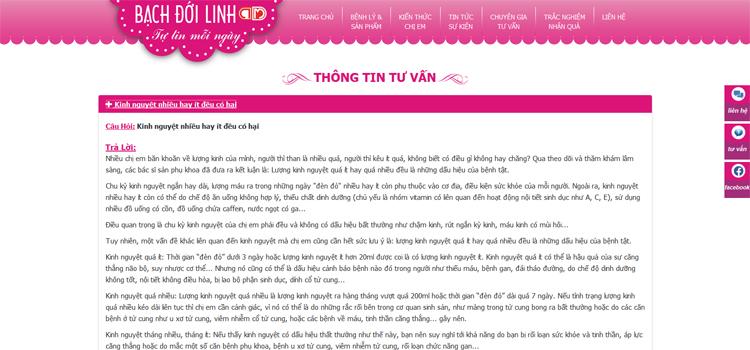 Bạch Đới Linh TM - Tự Tin Mỗi Ngày CTY Dược Phẩm Trang Minh