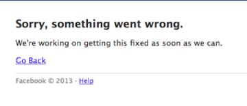 Facebook bất ngờ bị đơ trên phạm vi toàn cầu