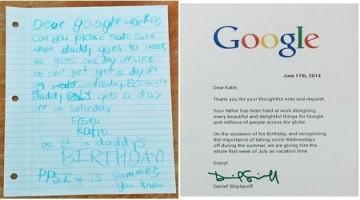 Google và lá thư dễ thương của một bé gái