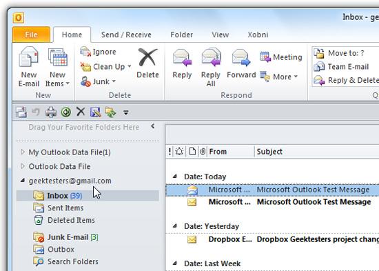 Thêm tài khoản Gmail vào Outlook 2010 với POP (phần 1 : cấu hình tự động)