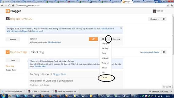 Hướng dẫn Add domain cho blog google