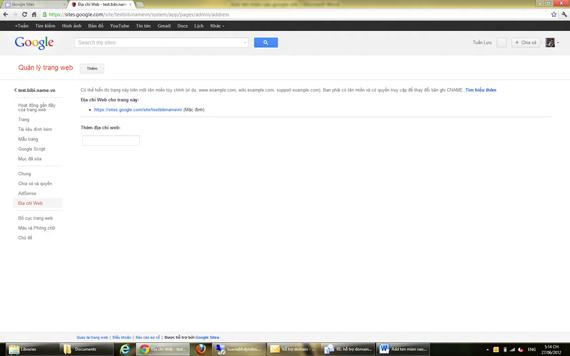 Cách Add tên miền vào google site như thế nào?