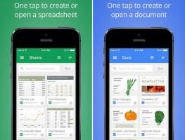 Google ra mắt Google Docs và Sheets miễn phí cho người dùng iOS và Android