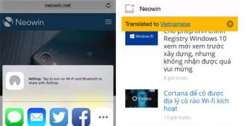 Cách dịch ngôn ngữ trang web khi dùng Safari trong iOS 8